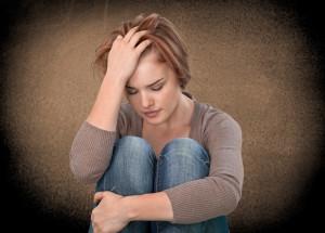 Kvinde med tegn på stress hos Kirsten-K