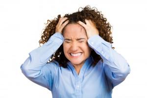 Voldsom hovedpine og stress
