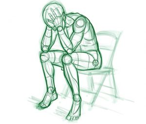 Mand med symptomer på stress hos stress coach Kirsten-K
