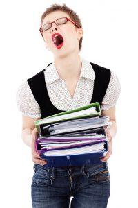 Kvinde har mange symptomer på stress hos stresscoach Kirsten-K